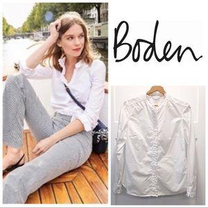 Boden Virginie White Button Down Shirt